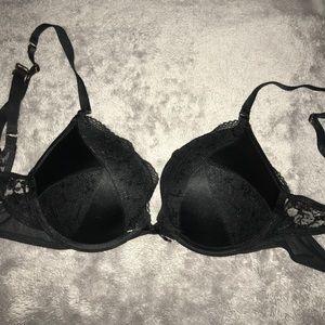 Victoria's Secret black push-up bra
